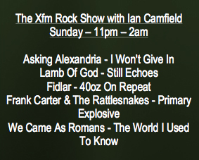 WCAR - XFM ROCK SHOW top 5