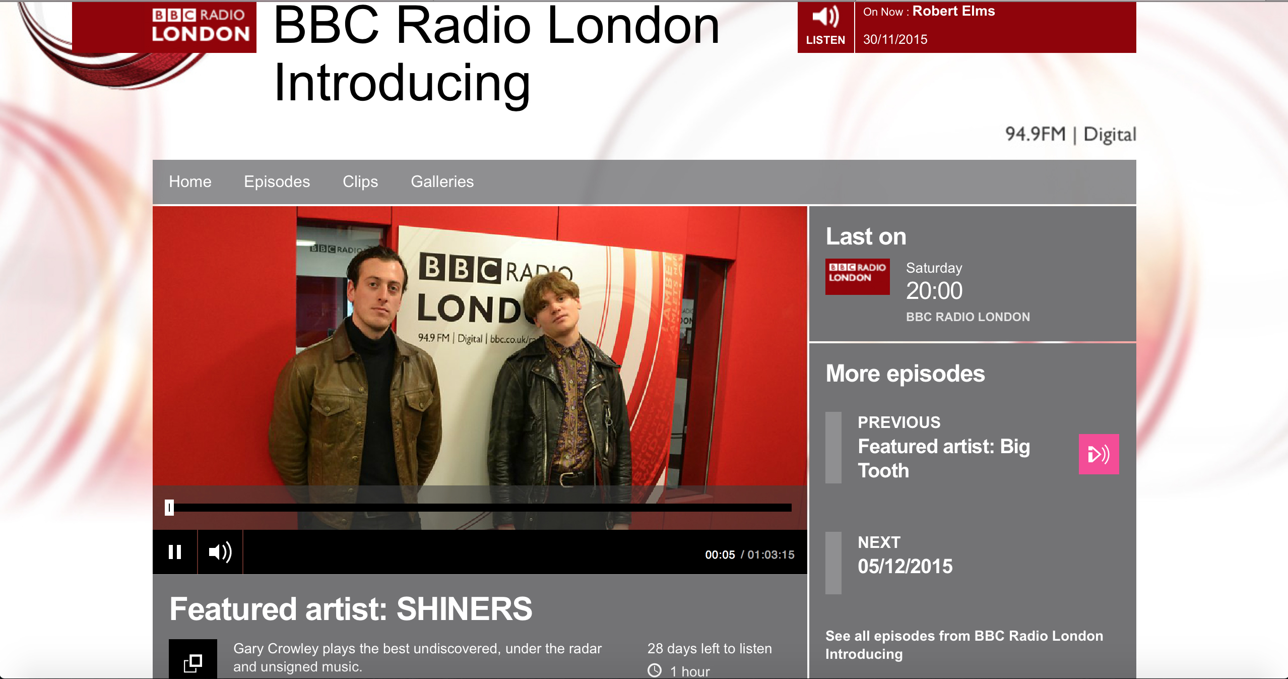 shiners bbc featured artist